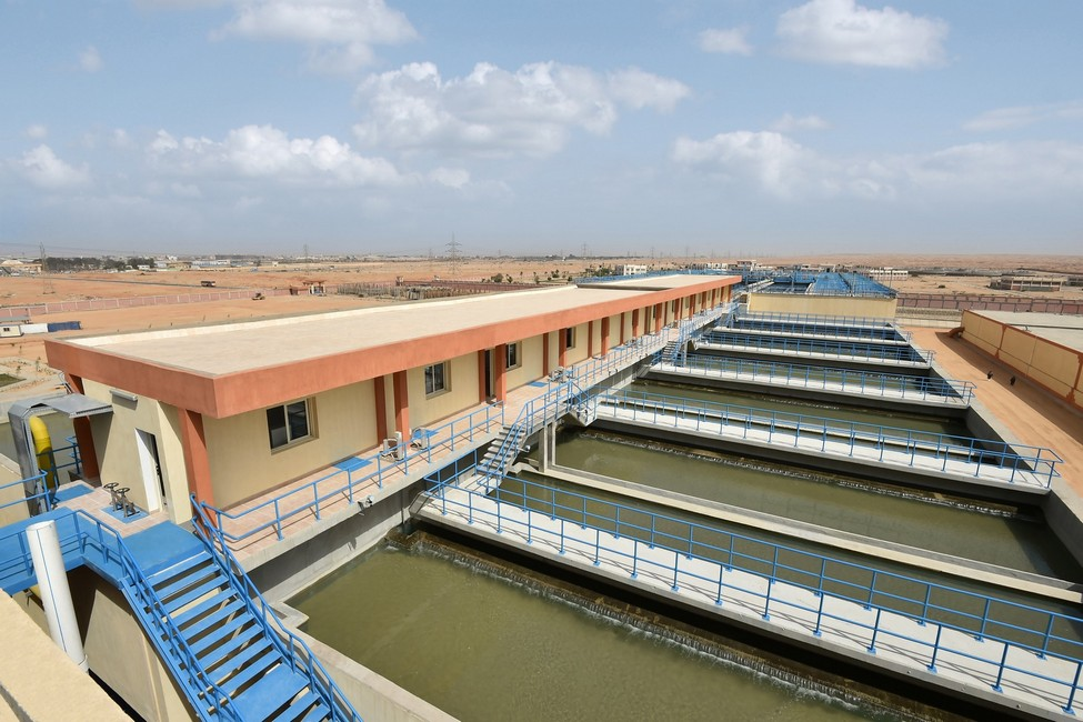 محطة مياه الشرب العملاقة بالعاشر من رمضان